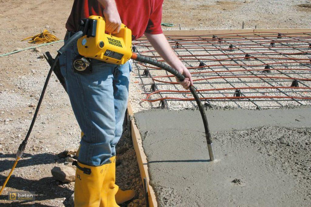 Виброуплотнение бетона