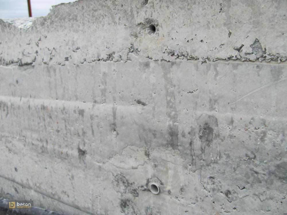 рытвины бетона