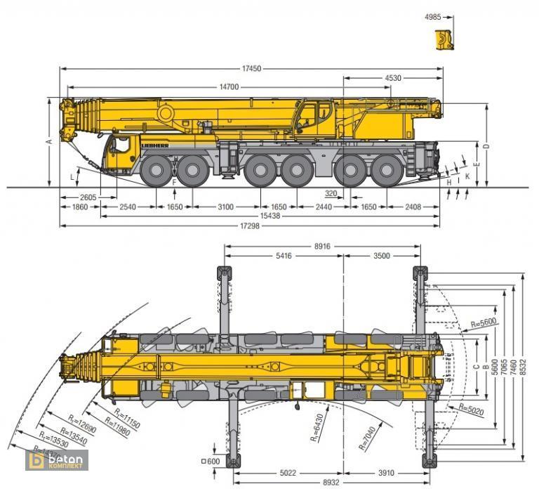 Автокран 300 т LIEBHERR LTM 1300