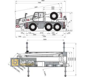 Автокран 60 т TEREX AC 60/3 DEMAG AC-60 City