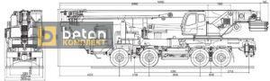 Автокран 60 т КС-6973А шасси МЗКТ 6923 вездеход