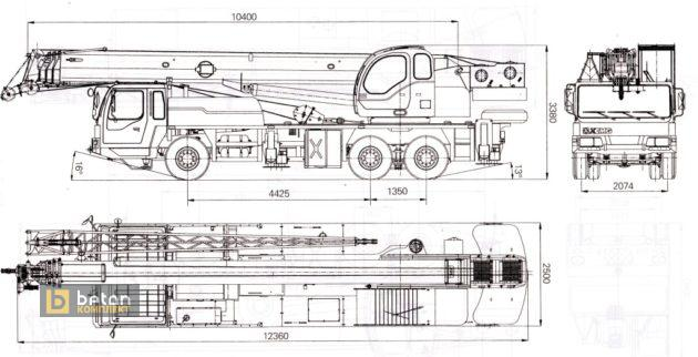 Автокран 25 т XCMG QY25K