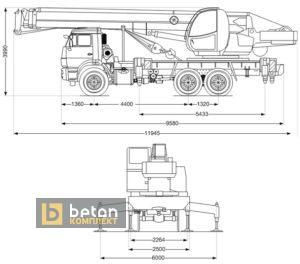 Автокран 25 т КС-45717К-1 «Ивановец» Камаз 65115-50