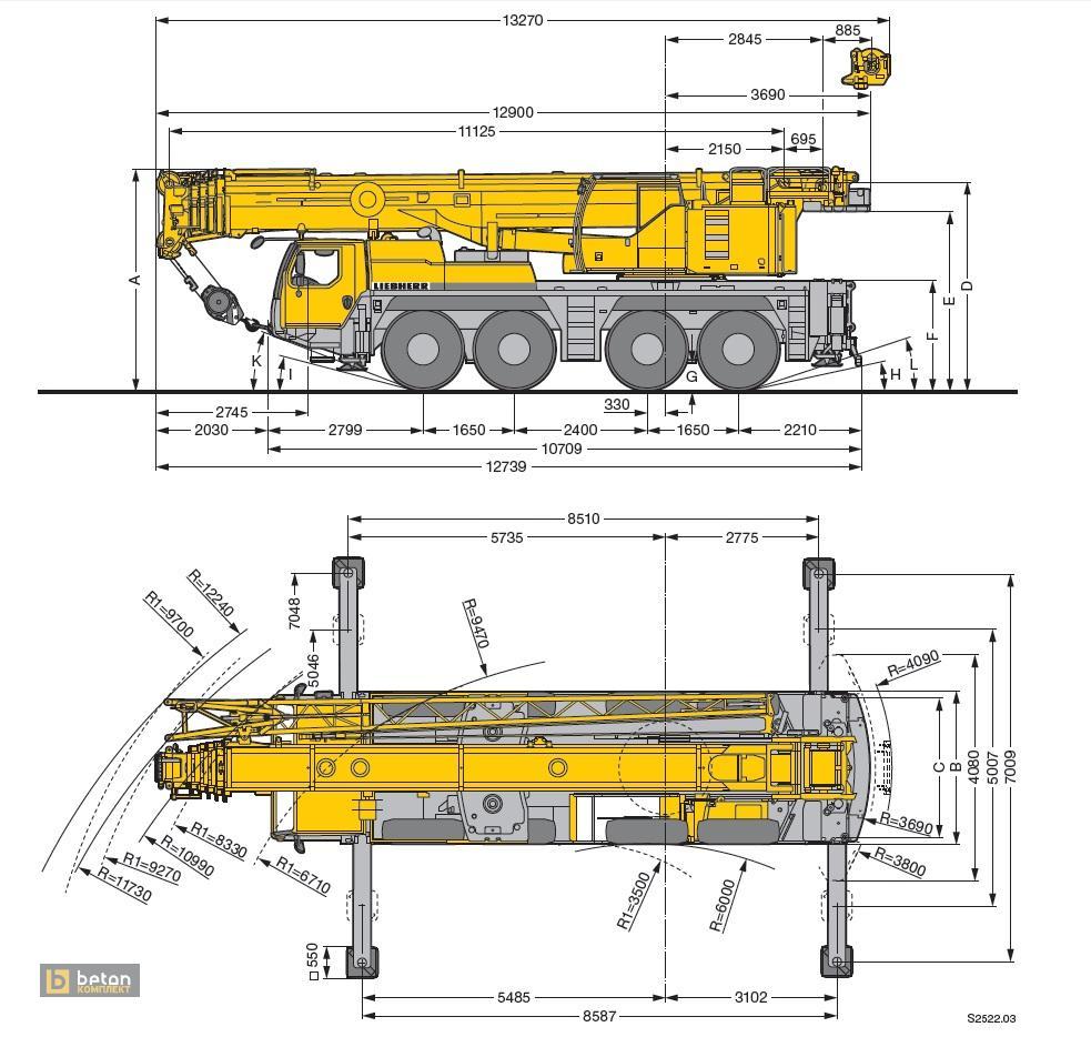 Автокран 90 т LIEBHERR LTM 1090