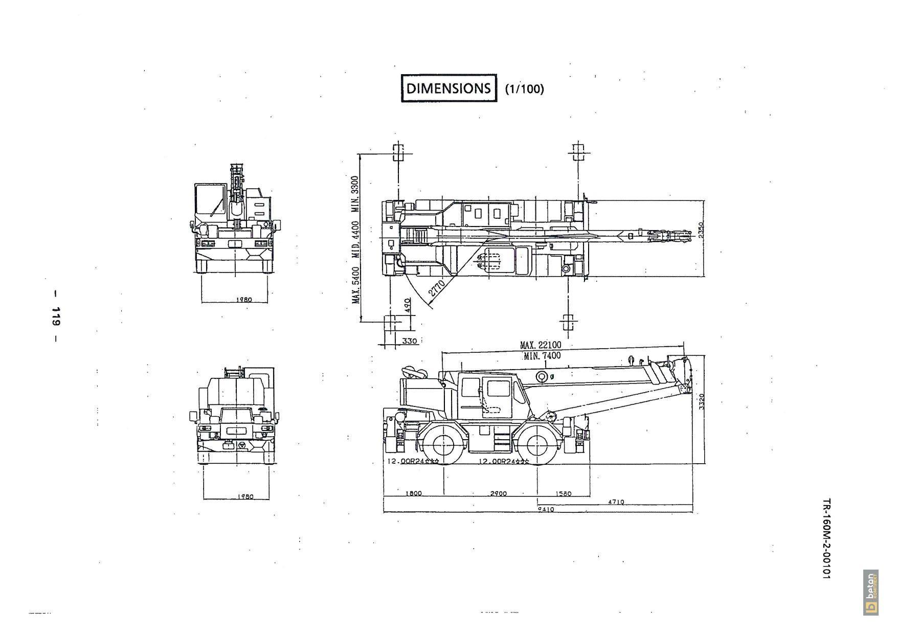 Автокран 16 т Tadano TR160M-2